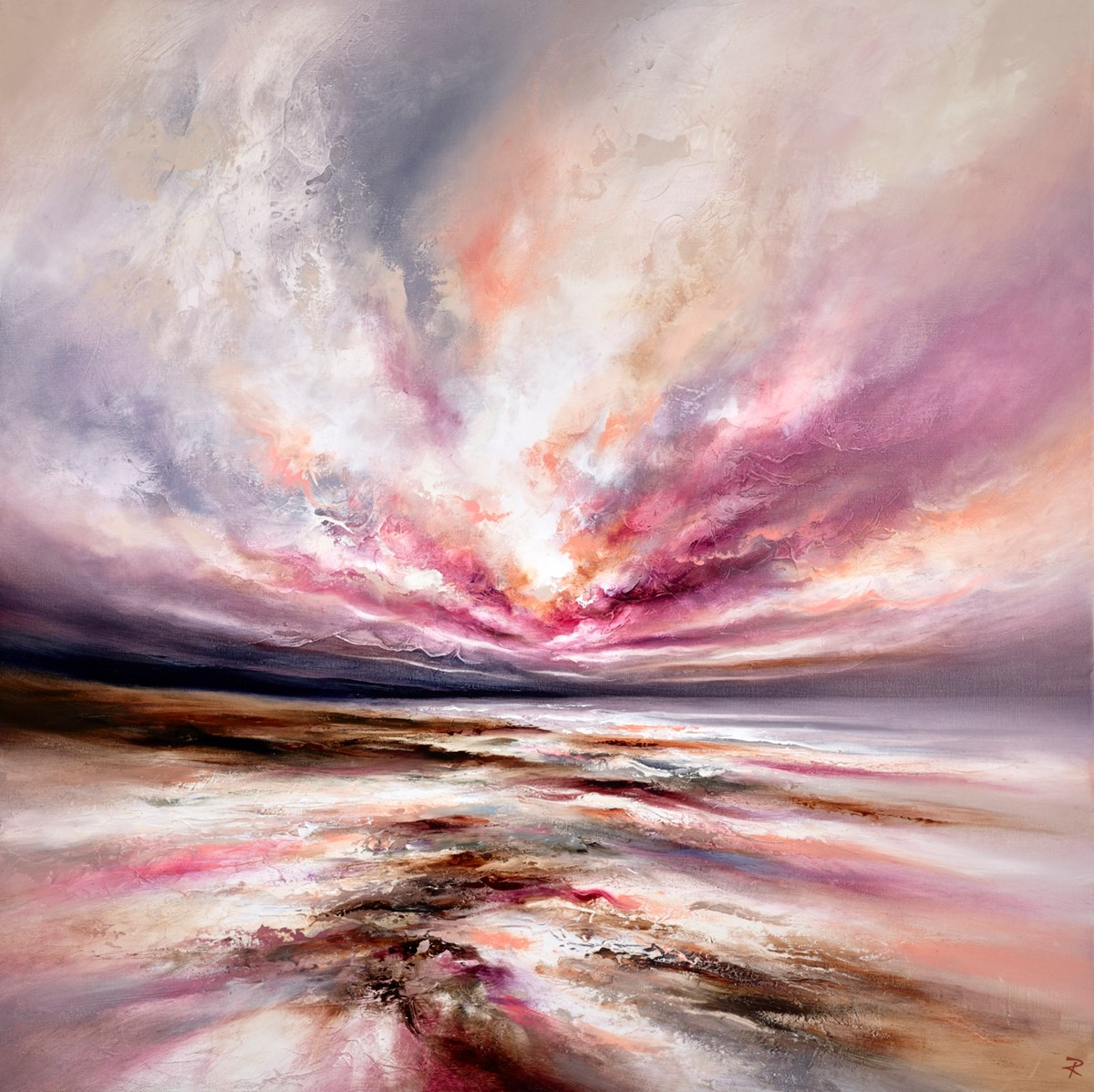 Twilight Grace by chris and steve rocks -  sized 39x39 inches. Available from Whitewall Galleries